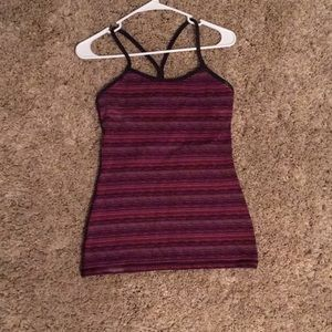 Lululemon power Y tank top with built in bra